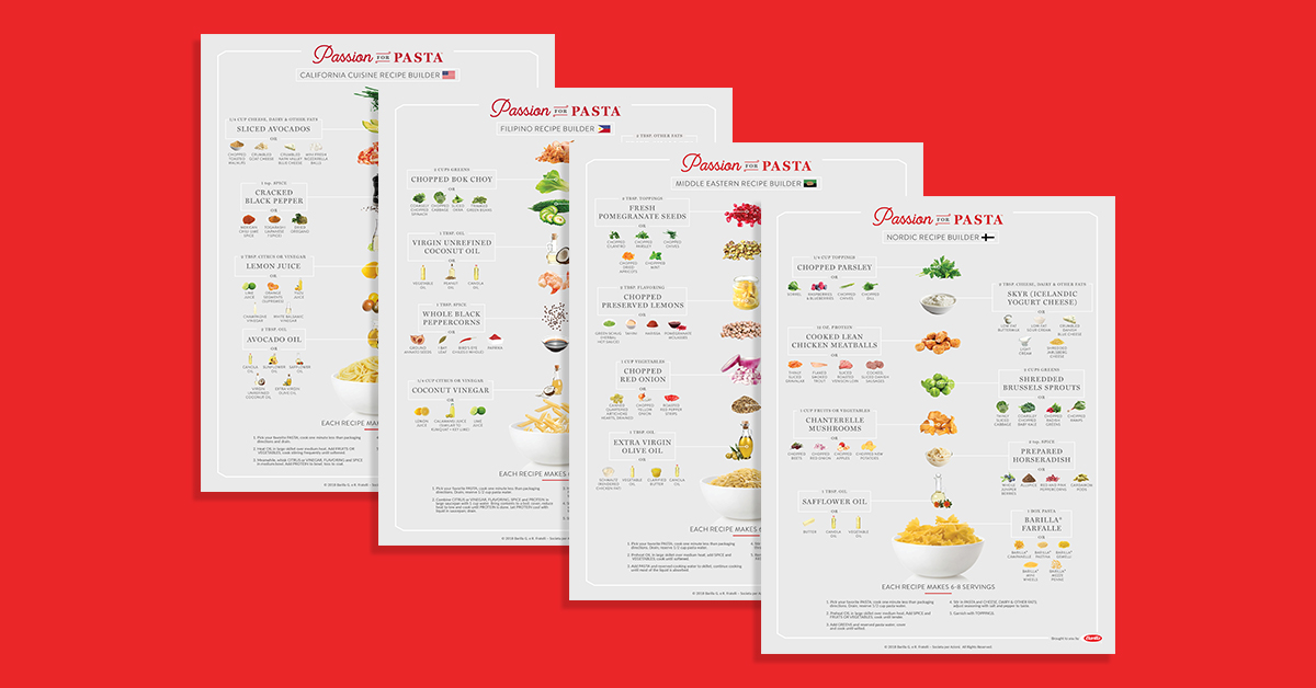 Barilla's Printable Recipe Builders