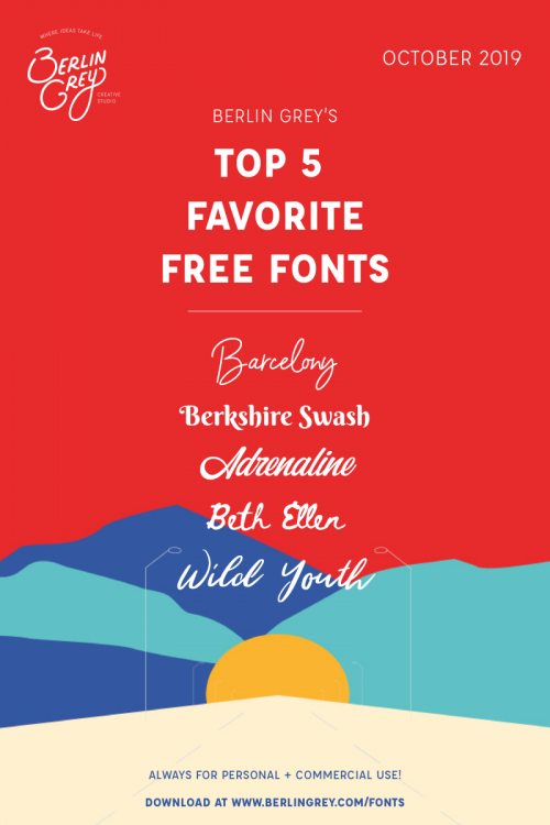 Top 5 favorite free fonts for personal and commercial use