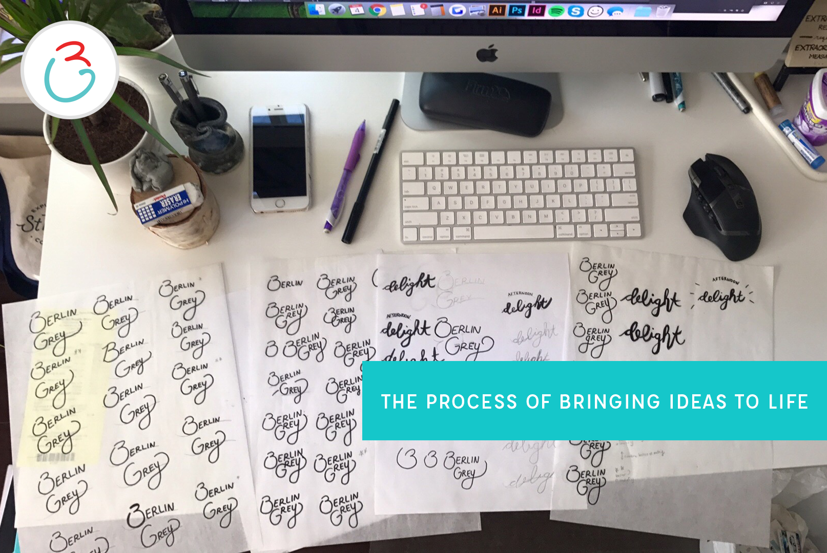berlin grey creative design studio process of creating a logo